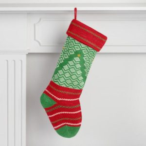 Christmas Tree knit Christmas Stocking under $20