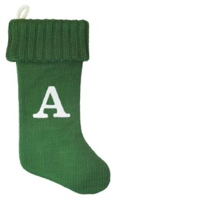 Monogrammed knit Christmas Stocking under $20.