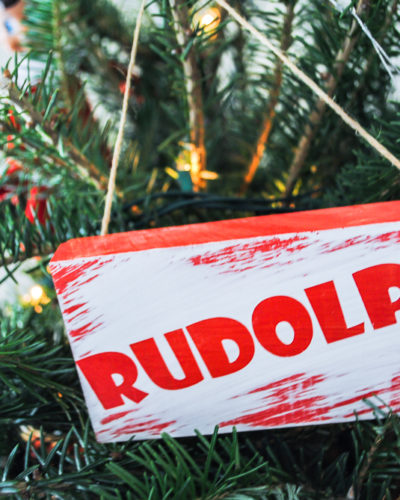 Reindeer Names Ornaments Using a Cricut