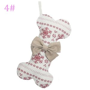 There are four fabric options for this adorable bone Christmas Stocking under $20.
