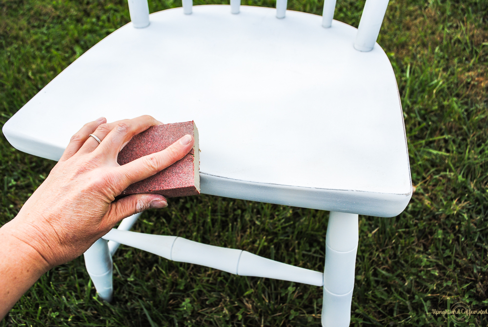 Distressing gives a piece character. This tutorial will show you how to spray paint furniture and distress it.