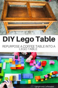 Next time you see a coffee table, grab it and make this DIY Lego Table!