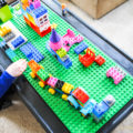 Keep kids' lego toys organized with this DIY lego table.