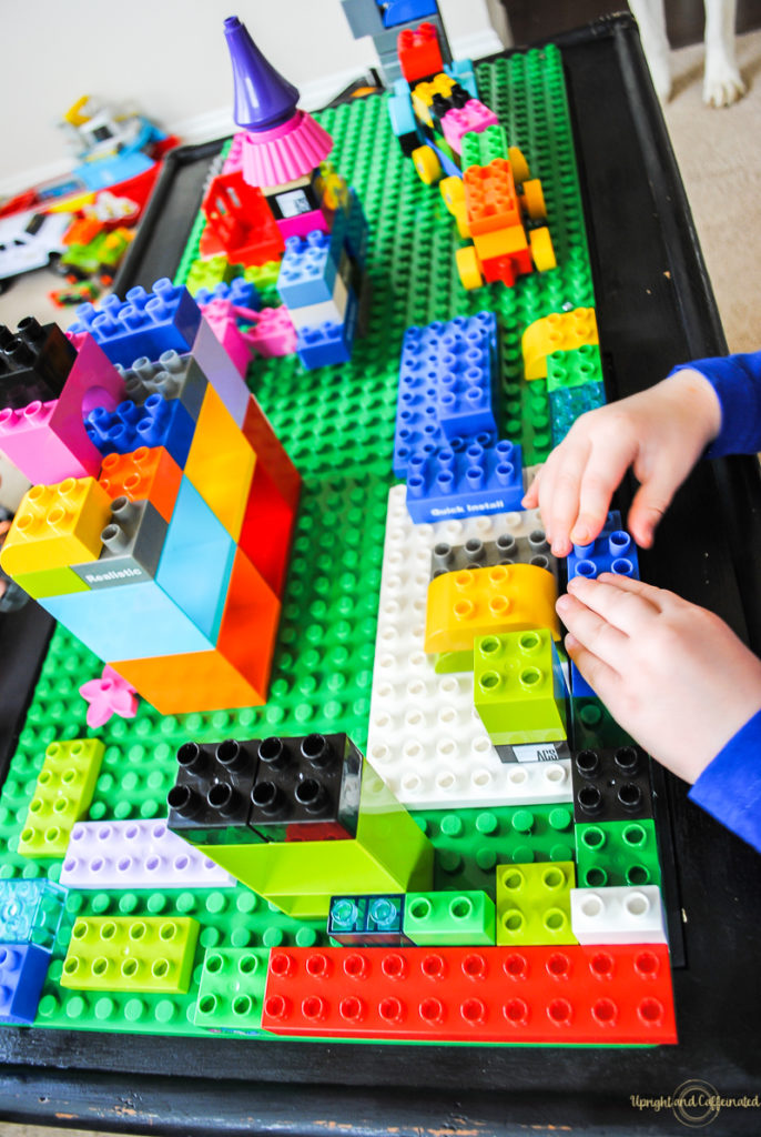 DIY Lego Table : Upcycling Project - Upright and Caffeinated