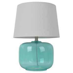 I love the color of this nightstand lamp.