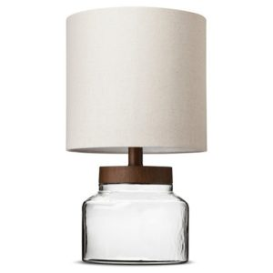 I love this nightstand lamp for a bedroom. The glass bottom can be filled with things like seashells!