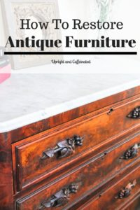 Learn how to restore antique and vintage furniture with this awesome tutorial on how to restore an antique dresser.