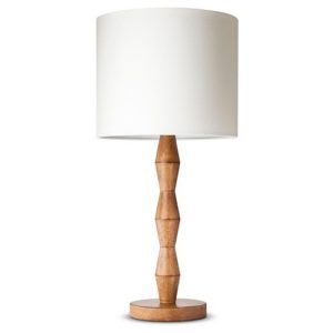 This is a simple wooden nightstand lamp that would go well in our master bedroom.