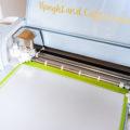 Use a Cricut Explore Air 2 to cut the heat transfer vinyl.