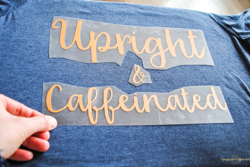 Easy Heat Transfer Vinyl Tutorial - Upright and Caffeinated