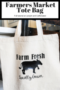 Make this farmers market tote bag in just a few minutes with this tutorial on how to use heat transfer vinyl.