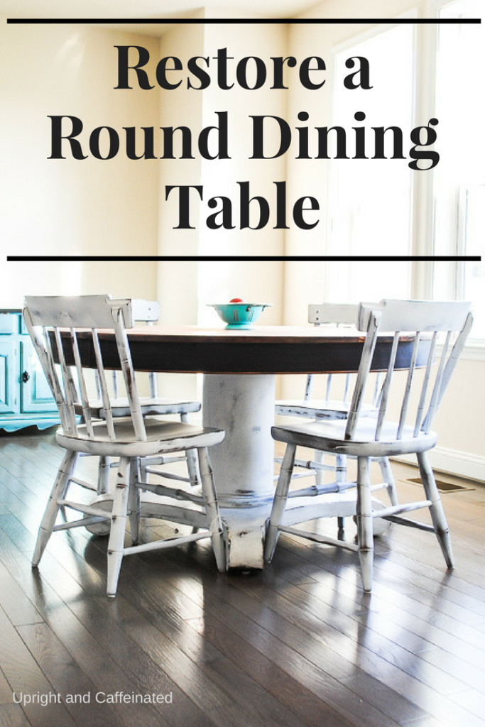 You have to see the amazing transformation of this round dining table!