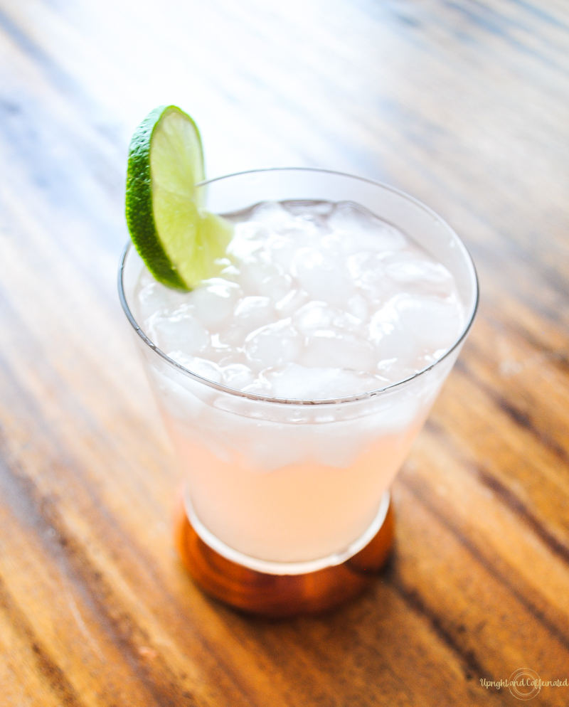 This pink drink is made with grapefruit vodka