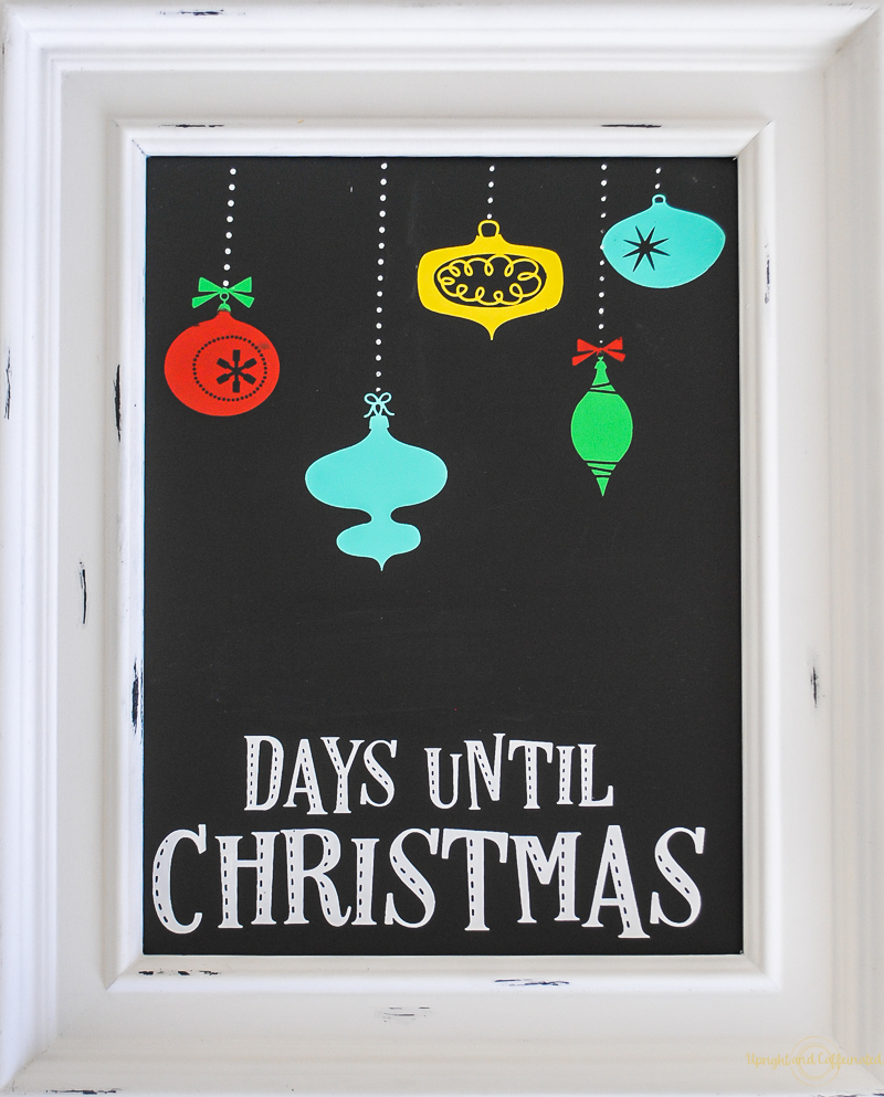 Days Until Christmas Countdown.Easy Diy Christmas Countdown Sign Upright And Caffeinated
