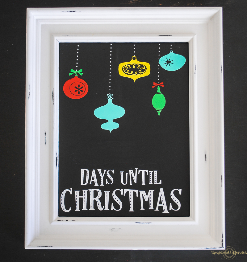 easy diy christmas countdown sign upright and caffeinated - Christmas Countdown Sign