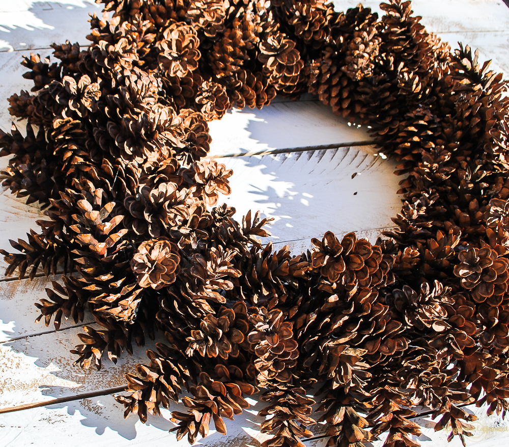 Learn how to make a giant pinecone wreath