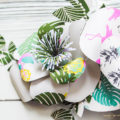 Using patterned paper to make paper flowers is such a GREAT idea!