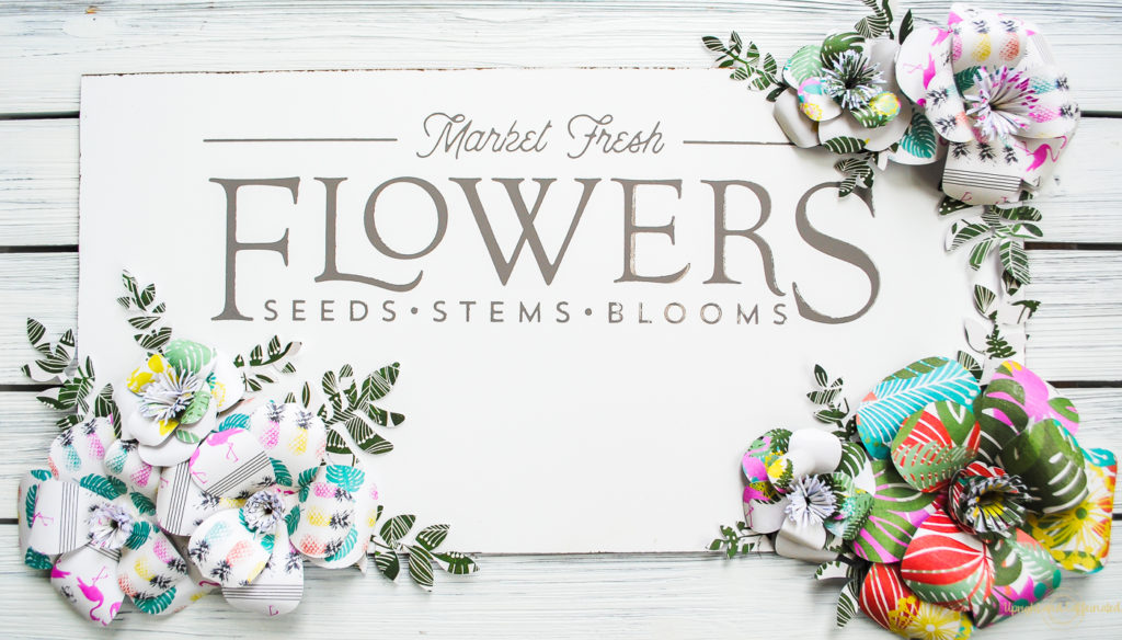 These patterned paper flowers are stunning!